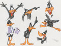"animation art:Model Sheet, Virgil Ross ""The Art of Daffy Duck"" Model Sheet Original Art (Warner Brothers, c. 1990s)...."