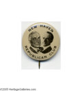 """Political:Pinback Buttons (1896-present), Incredible Probably-unique 1 1/4"""" 1920 Harding - Coolidge Jugate From one of the truly great celluloid collections ever asse..."""