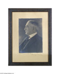 Photography:Studio Portraits, Warren G. Harding Framed Vintage Photograph Harris & Ewing ofWashington, D.C. were the best-known and most-used photographe...