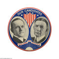 """Political:Pinback Buttons (1896-present), Spectacular, Giant 6"""" Calvin Coolidge - Charles Dawes Jugate inMint Condition The """"crown jewel"""" of the Larry Krug collecti..."""