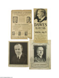 Political:Posters & Broadsides (1896-present), 1924 Lot of Original Coolidge and Dawes Campaign Posters Four largeflat items are included in this lot. First is a cardboar...