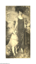 """Political:3D & Other Display (1896-present), Magnificent Grace Coolidge-signed Christy Portrait Print Marked """"C.Howard Chandler Christy/The White House/Feb. 1924."""" Bold..."""