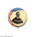 """Political:Pinback Buttons (1896-present), Scarce, Colorful Large 1 3/4"""" Calvin Coolidge Campaign Pin from 1924 One of the few larger buttons with any design """"pizzazz..."""