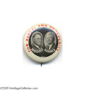 "Political:Pinback Buttons (1896-present), One of the Best Franklin Roosevelt - John Garner Jugates This great1 1/4"" button is clearly from 1932, as it calls for the ..."