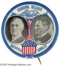 Political:Pinback Buttons (1896-present), Pair of Classic 1932 Jugate Buttons for Franklin Roosevelt and Boston Mayor James Curley Curley was one of the most colorfu...