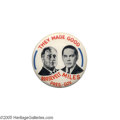 "Political:Pinback Buttons (1896-present), One of the Rarest Franklin Roosevelt ""Coat-tail"" Button DesignsThis 1 1/4"" New Mexico beauty is almost prohibitively rare;..."