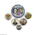 Political:Pinback Buttons (1896-present), Desirable Franklin Roosevelt Button Group There are six different FDR buttons in this group, covering his entire presidency....