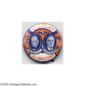 """Political:Pinback Buttons (1896-present), Rare, Colorful 1 1/4"""" Jugate Button with Franklin D. Roosevelt and Winston Churchill This beauty, issued to celebrate victo..."""