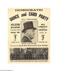 Political:Posters & Broadsides (1896-present), A Really Neat Franklin Roosevelt Political Poster Delightful designand subject! Across bottom is panoramic photo of the cl...
