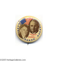 """Political:Pinback Buttons (1896-present), Popular 1 1/4"""" 1948 Truman - Barkley Jugate Button This attractive design is especially nice as it is easily mated with a De..."""
