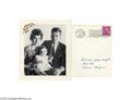 Political:Small Paper (1896-present), Very Scarce 1958 John F. Kennedy Family Portrait Christmas Card Delightful photo with baby Caroline, and facsimile signature...