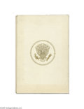 Political:Inaugural (1789-present), John F. Kennedy, Presidential Printed Gift Book According toGeneral Chester Clifton, military aide to President Kennedy, an...