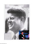 "Political:Miscellaneous Political, Lock of Hair From President John F. Kennedy John F. Kennedy'sbarber, Harry Gelbart writes: ""One one occasion, on a Sunda..."