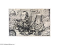 "Political:Posters & Broadsides (1896-present), 1969 Nixon and Agnew ""Easy Rider"" Caricature Poster An excellent,large poster similar to ones the older baby-boomers among ..."