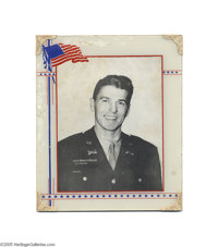 Lieutenant Ronald Reagan World War II Photo in Patriotic Period Frame Here is a great Associated Press black and white p...