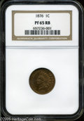 Proof Indian Cents: , 1876 1C PR 65 Red and Brown NGC. ...
