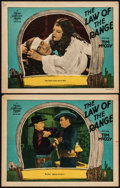 "Movie Posters:Western, Law of the Range (MGM, 1928). Lobby Cards (2) (11"" X 14"").Western.. ... (Total: 2 Items)"