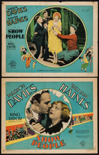 "Show People (MGM, 1928). Title Lobby Card & Lobby Card (11"" X 14""). Comedy. ... (Total: 2 Items)"