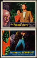 """Movie Posters:Horror, Night of the Blood Beast & Other Lot (American International,1958). Overall: Very Fine. Lobby Cards (2) (11"""" X 14"""")...."""
