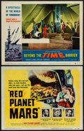 "Movie Posters:Science Fiction, Red Planet Mars & Other Lot (United Artists, 1952). Title LobbyCard & Lobby Card (11"" X 14""). Science Fiction.. ... (Total: 2Items)"