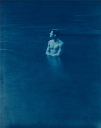 John Dugdale (American, b. 1960) Self Portrait in Rondout Creek, Rosendale, NY, 1993 Cyanotype 9-