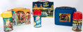Memorabilia:Lunch Boxes, Space Related TV Shows Lunch Boxes Group of 3 (Aladdin, 1952-67).... (Total: 3 Items)