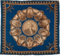Political:Textile Display (pre-1896), James K. Polk: A Probably Unique Large Bandana Picturing the U.S.Presidents up Through Polk....