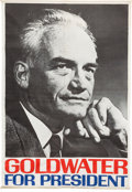 Political:Textile Display (1896-present), Barry Goldwater: Large Portrait Headquarters or Street Banner....