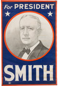 Political:Textile Display (1896-present), Al Smith: Parade or Headquarters Portrait Banner....
