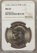Eisenhower Dollars, (5)1976-D $1 Type Two MS65 NGC. NGC Census: (4725/540). PCGS Population: (2561/954). CDN: $20 Whsle. Bid for problem-free N... (Total: 5 item)