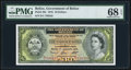 World Currency, Belize Government of Belize 10 Dollars 1.1.1976 Pick 36c PMG SuperbGem Uncirculated 68 EPQ. . ...