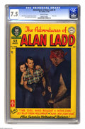 Golden Age (1938-1955):Adventure, Adventures of Alan Ladd #3 (DC, 1950) CGC VF- 7.5 Off-white pages. Photo cover. Ruben Moreira, Charles Paris, Curt Swan, Joh...