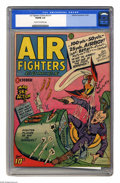 Golden Age (1938-1955):War, Air Fighters Comics V2#1 (Hillman Fall, 1943) CGC VG/FN 5.0 Creamto off-white pages. Classic Nazi cover. Overstreet 2005 VG...