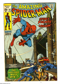 The Amazing Spider-Man #95 (Marvel, 1971) Condition: VF/NM. Spidey visits London, England. John Romita Sr. cover and art...