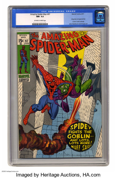 The Amazing Spider-Man #97 (Marvel, 1971) CGC NM- 9 2 Off