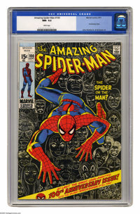 The Amazing Spider-Man #100 (Marvel, 1971) CGC NM- 9.2 White pages. Anniversary issue, with cameos by the Green Goblin...