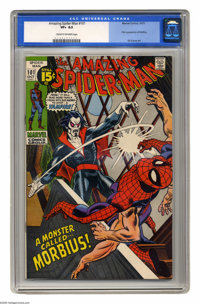 The Amazing Spider-Man #101 (Marvel, 1971) CGC VF+ 8.5 Cream to off-white pages. First appearance of Morbius. The Lizard...