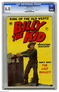 Billy the Kid Adventure Magazine #3 (Toby Publishing, 1951) CGC FN 6.0 Off-white to white pages. Photo cover. Four pages...