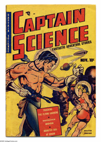 Captain Science #1 (Youthful Magazines, 1950) Condition: VG. Origin Captain Science. Wally Wood art. Overstreet 2005 VG...