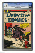 Detective Comics #91 (DC, 1944) CGC VF- 7.5 Off-white pages. This early issue features a Joker cover and story. Dick Spr...