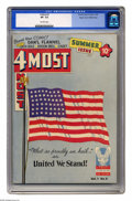 Golden Age (1938-1955):War, 4 Most #3 Mile High pedigree (Novelty Press, 1942) CGC VF- 7.5Off-white pages. Flag cover. Dan'l Flannel begins. This is th...