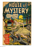 Golden Age (1938-1955):Horror, House of Mystery #1 (DC, 1952) Condition: FR. DC's first horrorcomic. Win Mortimer cover. Curt Swan, Bob Brown, and Henry B...