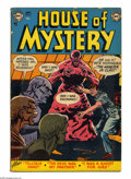 Golden Age (1938-1955):Horror, House of Mystery #6 (DC, 1952) Condition: GD/VG. Bob Brown cover.Brown, Curt Swan, and Jim Mooney art. Overstreet 2005 GD 2...
