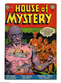 Golden Age (1938-1955):Horror, House of Mystery #8 (DC, 1952) Condition: VG-. Ruben Moreira cover.Moreira, Howard Purcell, Jerry Grandenetti, and Curt Swa...