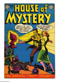 Golden Age (1938-1955):Horror, House of Mystery #10 (DC, 1953) Condition: VG. Curt Swan cover.Swan, Jim Mooney, Bob Brown, and Leonard Starr art. Overstre...