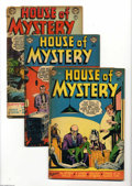 Golden Age (1938-1955):Horror, House of Mystery #14, 17, and 18 Group (DC, 1953). ApproximateOverstreet value for group = $80. From the Collection of Jo... (3Comic Books)
