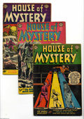 Golden Age (1938-1955):Horror, House of Mystery #21-23 Group (DC, 1953-54) Condition: AverageGD/VG. Lot includes #21, 22, and 23. Approximate Overstreet v... (3Comic Books)