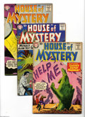 Silver Age (1956-1969):Horror, House of Mystery #80-82 Group (DC, 1958-59) Condition: Average FN.Lot includes #80, 81, and 82. Approximate Overstreet valu... (3Comic Books)