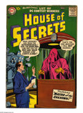 Silver Age (1956-1969):Horror, House of Secrets #4 (DC, 1957) Condition: VG-. Ruben Moreira cover.Jim Mooney, Henry Boltinoff, Mort Meskin, Bernard Baily,...