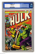 Bronze Age (1970-1979):Superhero, The Incredible Hulk #181 (Marvel, 1974) CGC VF/NM 9.0 Off-white towhite pages. First full appearance of Wolverine. Herb Tri...